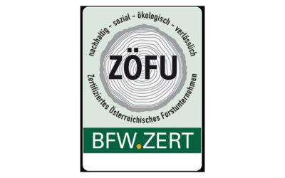BFW startet Forstunternehmerzertifizierung ZÖFU