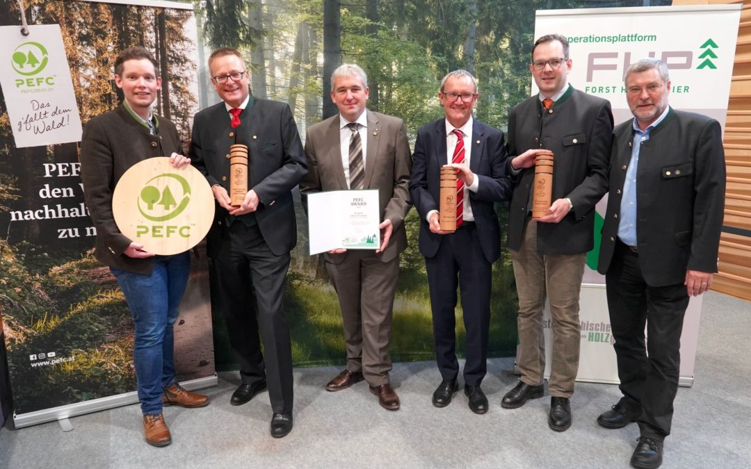 PEFC Award 2019 im Waldkompetenzzentrum Traunkirchen verliehen