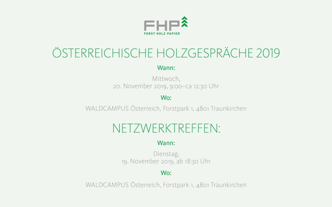 Österreichische HOLZgespräche 2019, Traunkirchen