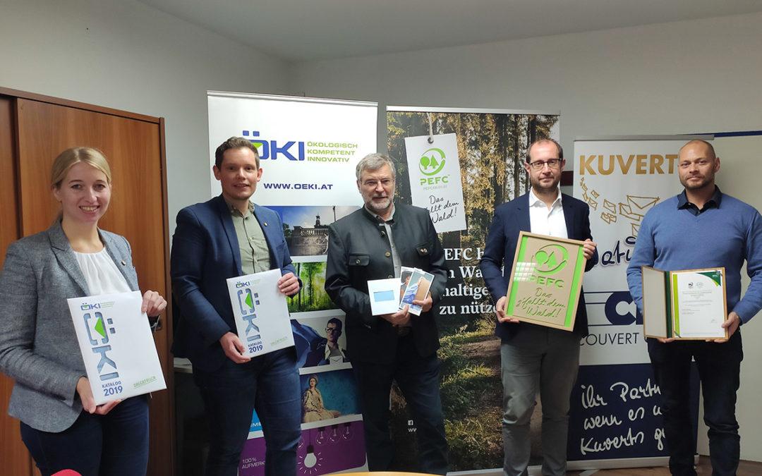 ÖKI – Österreichische Kuvertindustrie ist PEFC-zertifiziert!