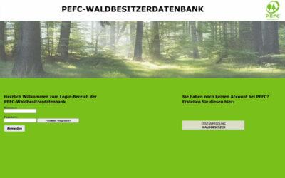 UPDATE der PEFC Waldbesitzerdatenbank