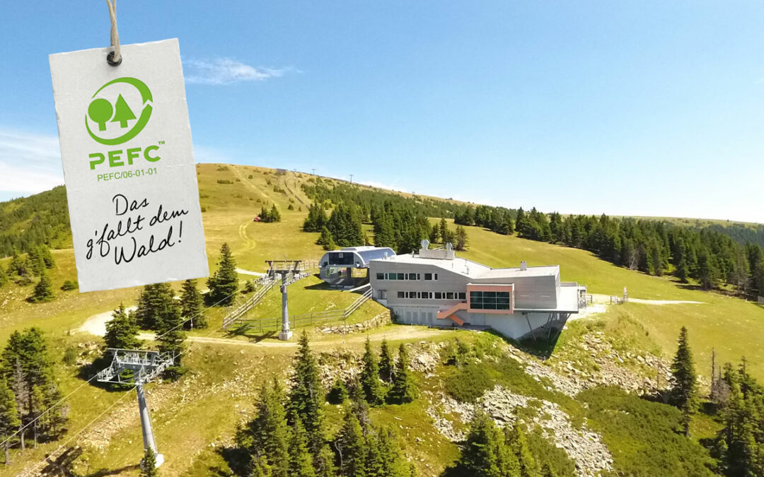 PEFC Austria hält Pressekonferenz in luftigen Höhen